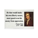Thomas Paine 3 Rectangle Magnet (10 pack)