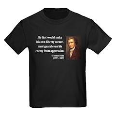 Thomas Paine 3 Kids Dark T-Shirt