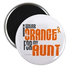 I Wear Orange For My Aunt 6 Magnet