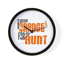 I Wear Orange For My Aunt 6 Wall Clock