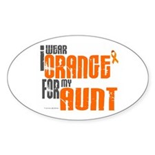 I Wear Orange For My Aunt 6 Oval Decal