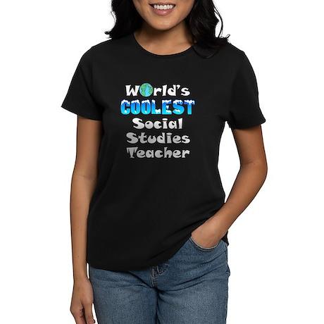 World's Coolest Socia.. (A) Women's Dark T-Shirt