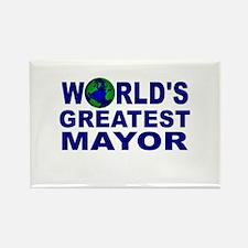 World's Greatest Mayor Rectangle Magnet