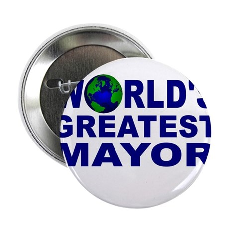 """World's Greatest Mayor 2.25"""" Button (100 pack)"""
