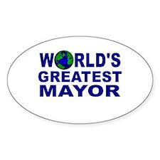 World's Greatest Mayor Oval Decal