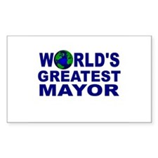 World's Greatest Mayor Rectangle Decal