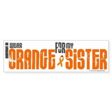 I Wear Orange For My Sister 6 Bumper Bumper Sticker