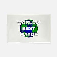 World's Best Mayor Rectangle Magnet