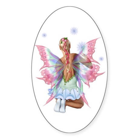 Make A Wish Oval Sticker
