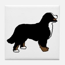 Tri Color Bernese Dog Tile Coaster