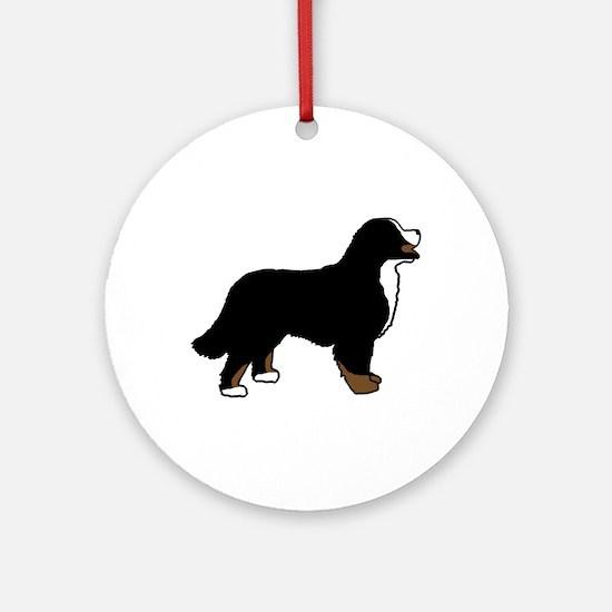 Tri Color Bernese Dog Ornament (Round)