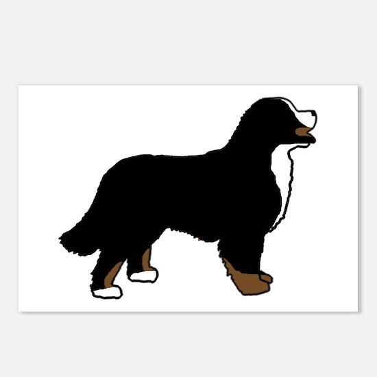 Tri Color Bernese Dog Postcards (Package of 8)