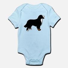 Tri Color Bernese Dog Infant Bodysuit