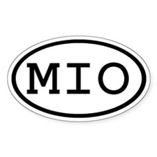 MIO Oval Oval Decal