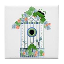 Lilly's Pad Bird House Tile Coaster