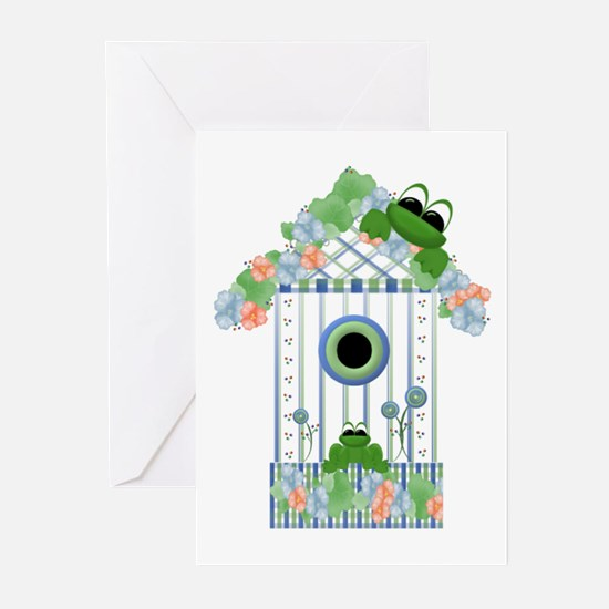 Lilly's Pad Bird House Greeting Cards (Package of
