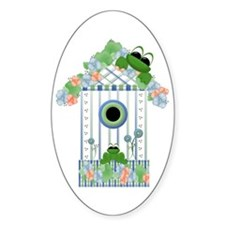 Lilly's Pad Bird House Oval Decal