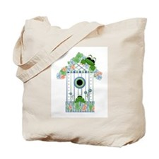 Lilly's Pad Bird House Tote Bag