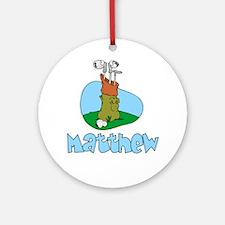 Matthew Ornament (Round)