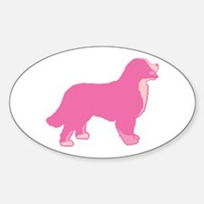 Tri Color Pink Bernese Oval Decal