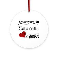 Louisville Loves Me Ornament (Round)