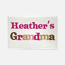 Heather's Grandma Rectangle Magnet (10 pack)