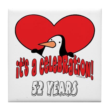 52nd Celebration Tile Coaster