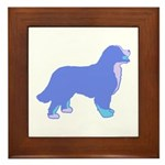 Tri Colorful Bernese Framed Tile