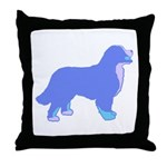 Tri Colorful Bernese Throw Pillow