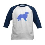 Tri Colorful Bernese Kids Baseball Jersey