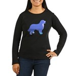Tri Colorful Bernese Women's Long Sleeve Dark T-Sh