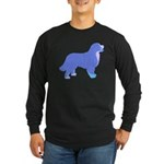 Tri Colorful Bernese Long Sleeve Dark T-Shirt