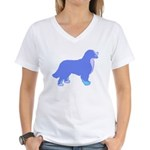 Tri Colorful Bernese Women's V-Neck T-Shirt