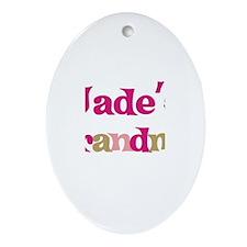 Jade's Grandma Oval Ornament