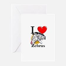 I Love Zebras Greeting Cards (Pk of 10)