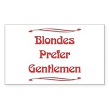 Blondes Prefer Rectangle Decal