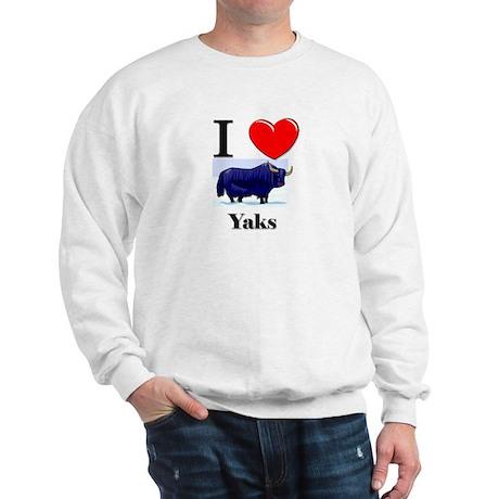 I Love Yaks Sweatshirt