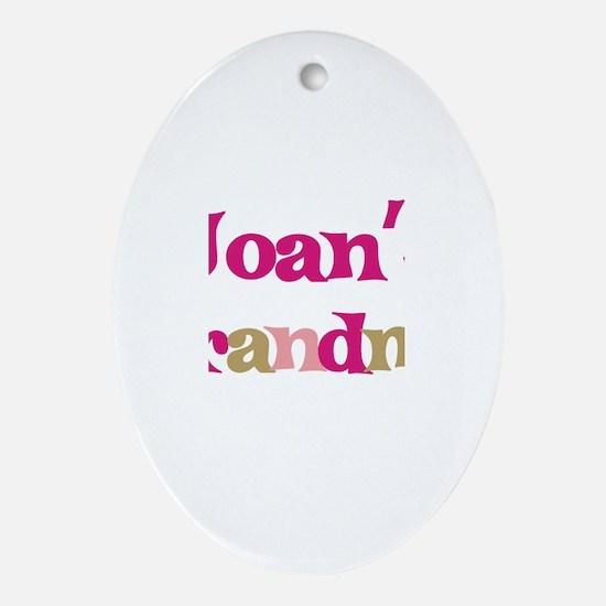 Joan's Grandma Oval Ornament