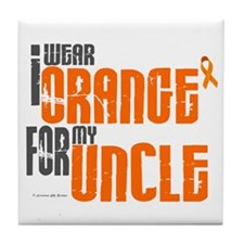 I Wear Orange For My Uncle 6 Tile Coaster