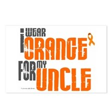 I Wear Orange For My Uncle 6 Postcards (Package of