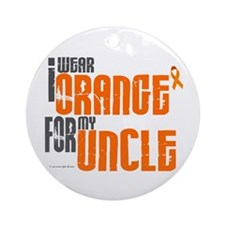I Wear Orange For My Uncle 6 Ornament (Round)