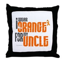 I Wear Orange For My Uncle 6 Throw Pillow