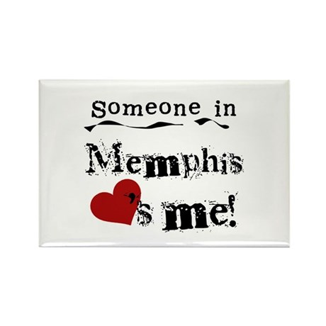 Memphis Loves Me Rectangle Magnet