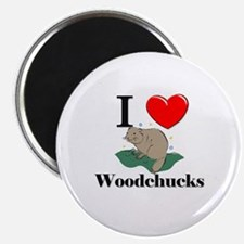 I Love Woodchucks Magnet