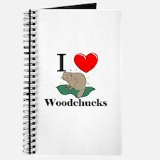 I Love Woodchucks Journal