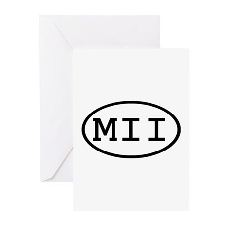 MII Oval Greeting Cards (Pk of 10)