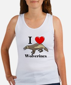 I Love Wolverines Women's Tank Top