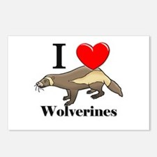 I Love Wolverines Postcards (Package of 8)