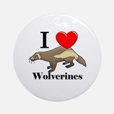 I Love Wolverines Ornament (Round)