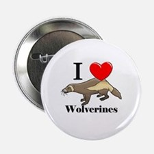 """I Love Wolverines 2.25"""" Button (10 pack)"""